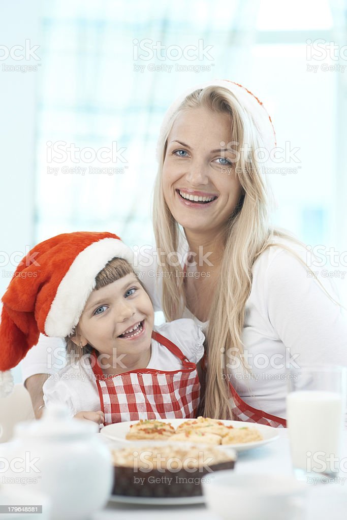 Christmas dinner preparation royalty-free stock photo