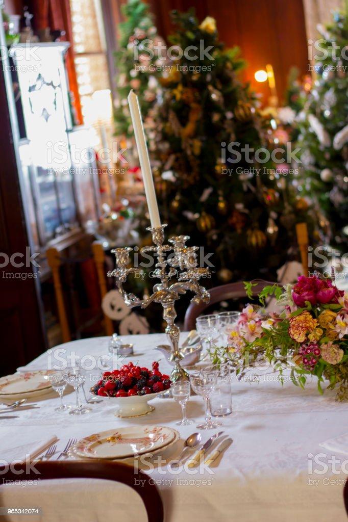 크리스마스 디너 설정 - 로열티 프리 0명 스톡 사진