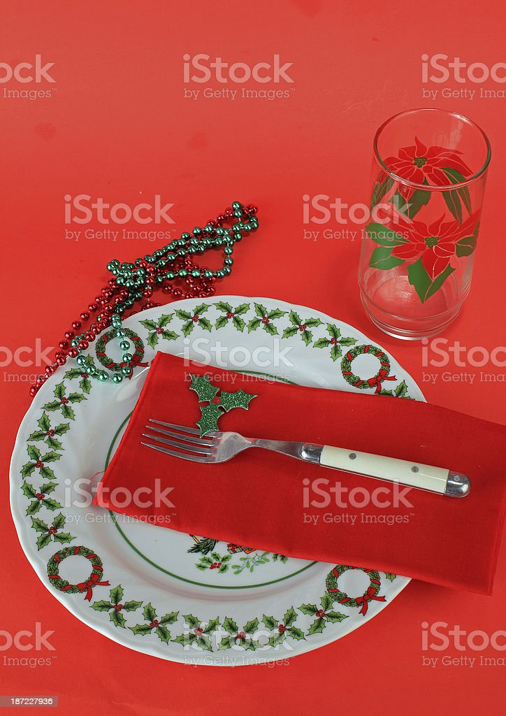 Christmas Dishes-Vertical royalty-free stock photo