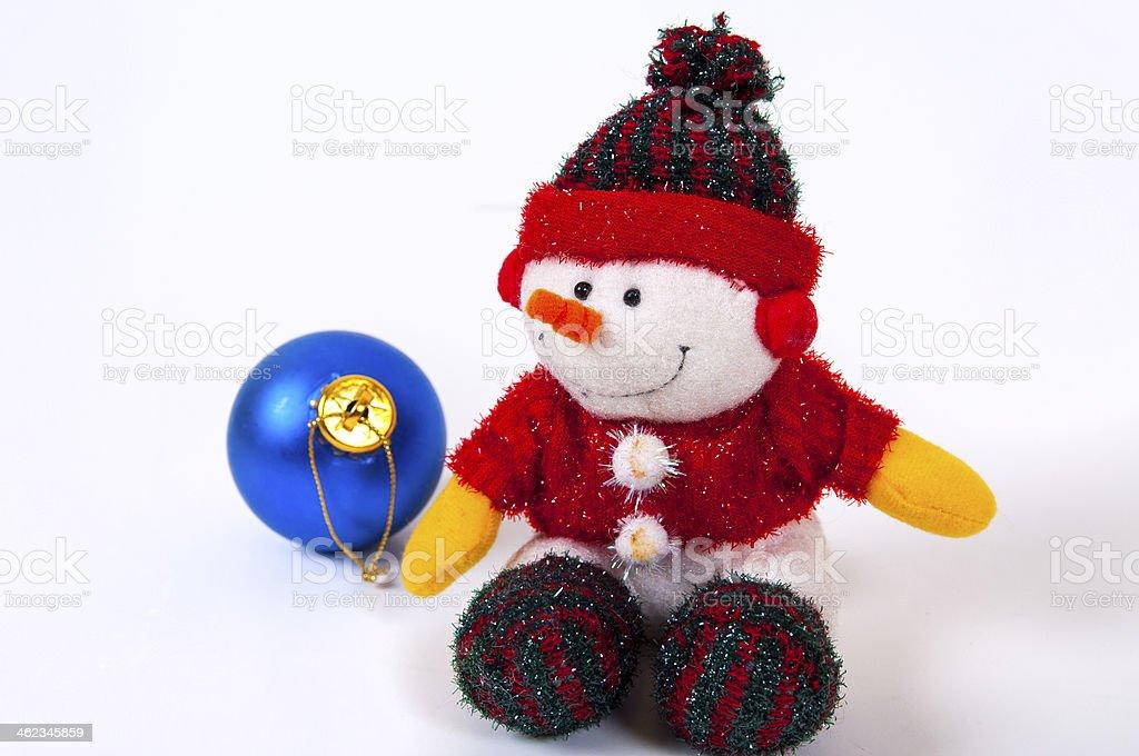 Christmas docoration snowman stock photo
