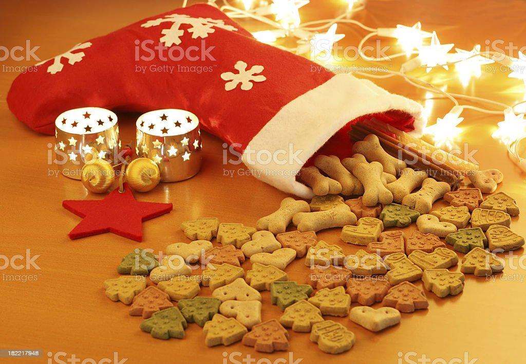 Christmas dog food royalty-free stock photo