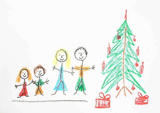 크리스마스 그림이요 - kids drawing 뉴스 사진 이미지