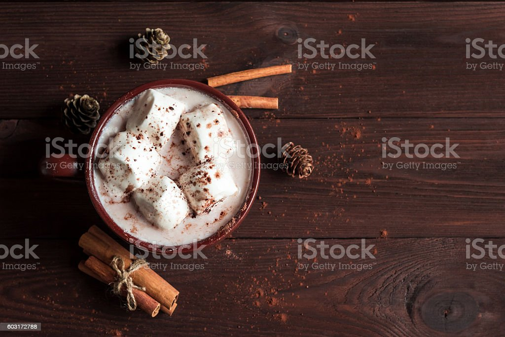 Christmas drink. Hot chocolate stock photo