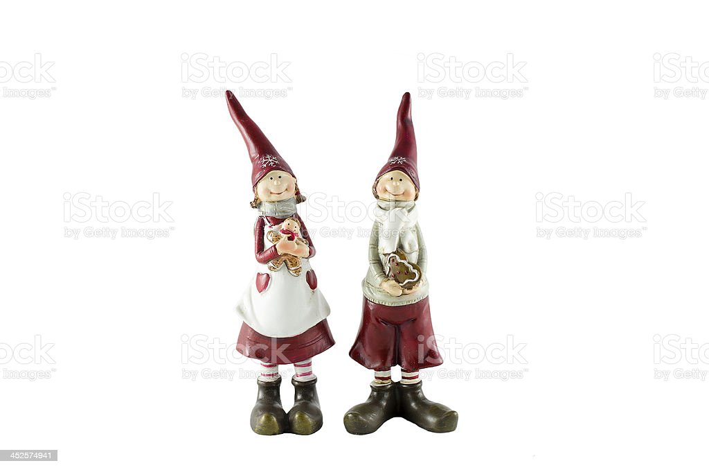 Christmas dwarfs stock photo