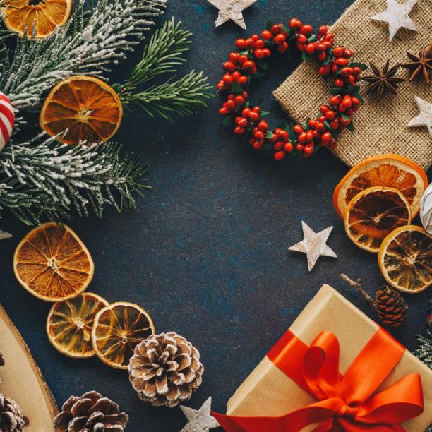 Weihnachtselemente Hintergrund – Foto