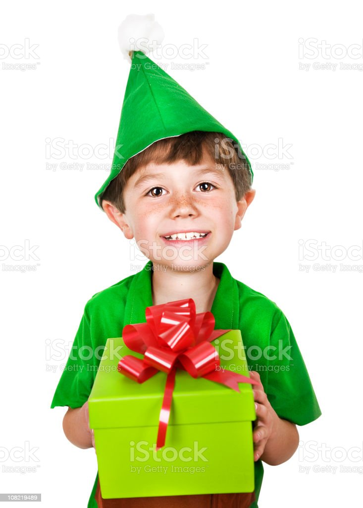 Christmas Elf stock photo