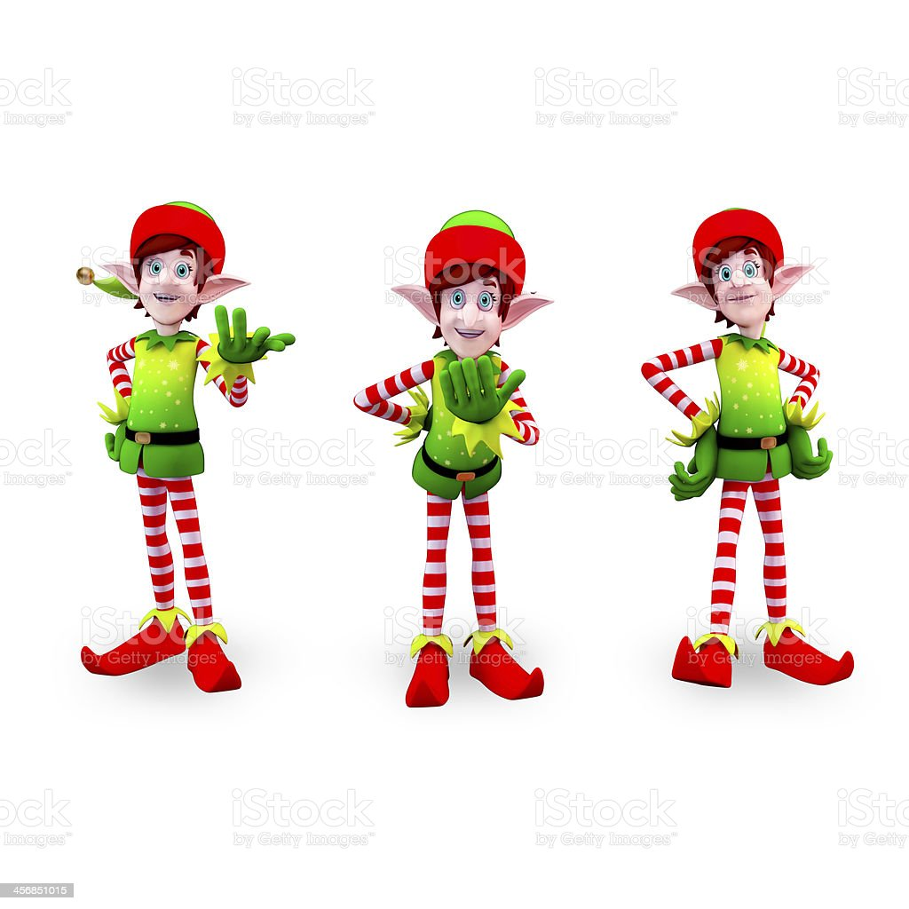 Christmas elves stock photo