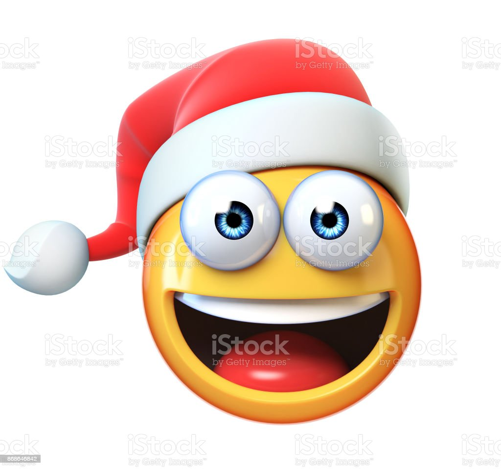Photo Libre De Droit De Emoji Noel Isole Sur Fond Blanc Emoticone Avec Chapeau Du Pere Noel 3d Rendering Banque D Images Et Plus D Images Libres De Droit De Balle Ou Ballon