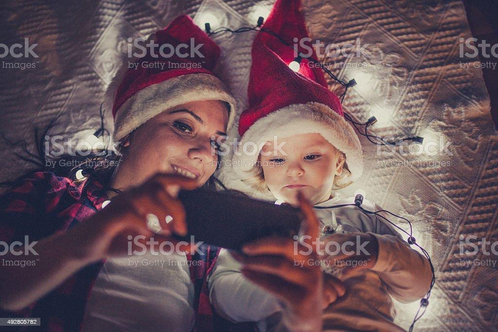 Christmas Enjoyment stock photo