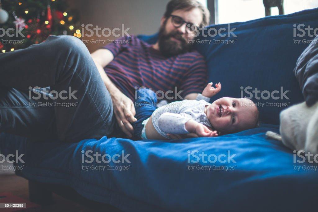 Famille de Noël à la maison - Photo