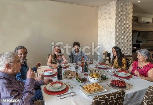1035768506 istock photo Christmas family celebration 861063908