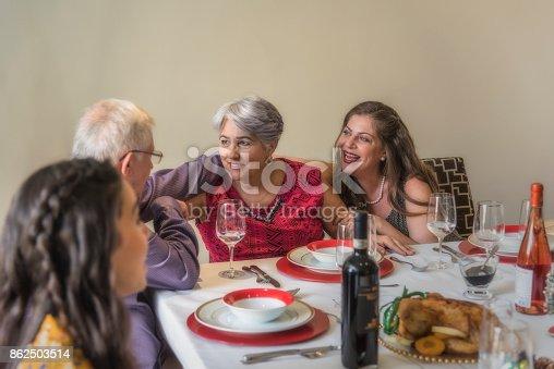 1035768506 istock photo Christmas family celebration 862503514