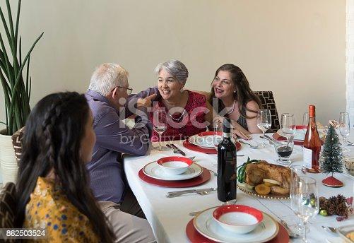 1035768506 istock photo Christmas family celebration 862503524