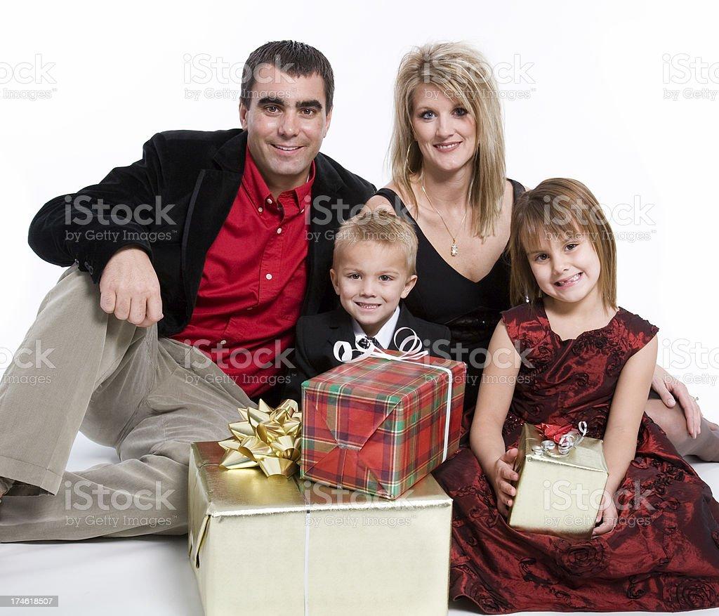 Christmas Family royalty-free stock photo