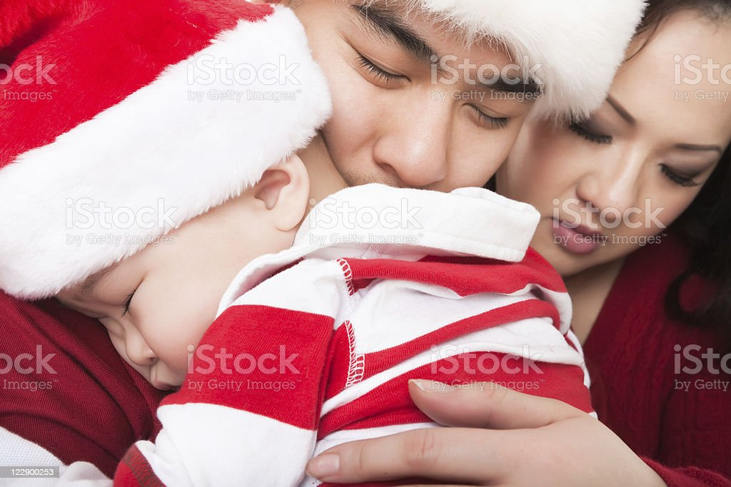 Christmas family portrait royalty-free stock photo