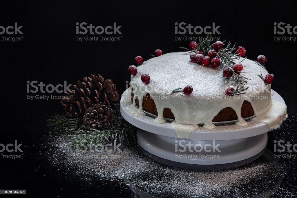 Christmas feast. Homemade cakes and pies for Christmas. Festive mood