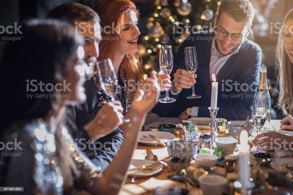 Christmas feast stock photo