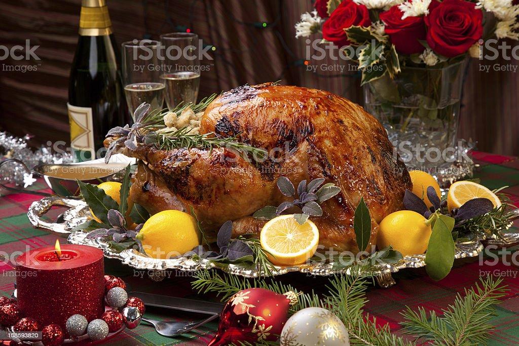 Christmas Feast Turkey stock photo