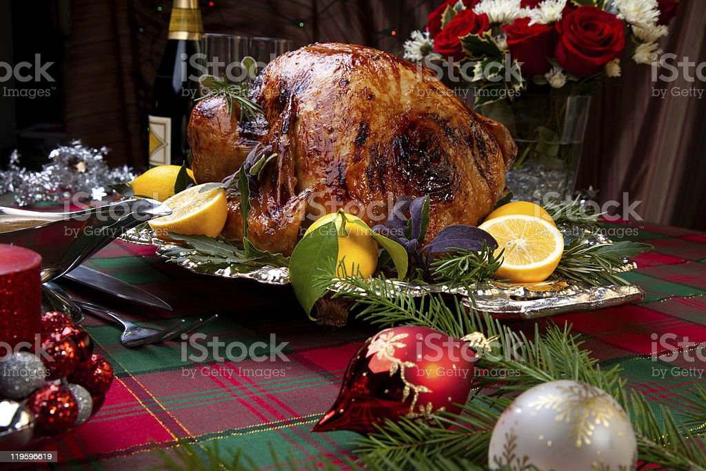 Christmas Feast Turkey royalty-free stock photo