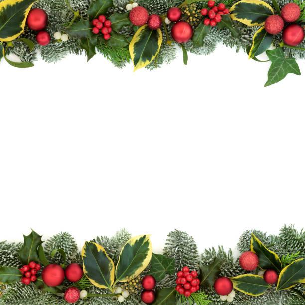 Christmas Festive Background Border stock photo