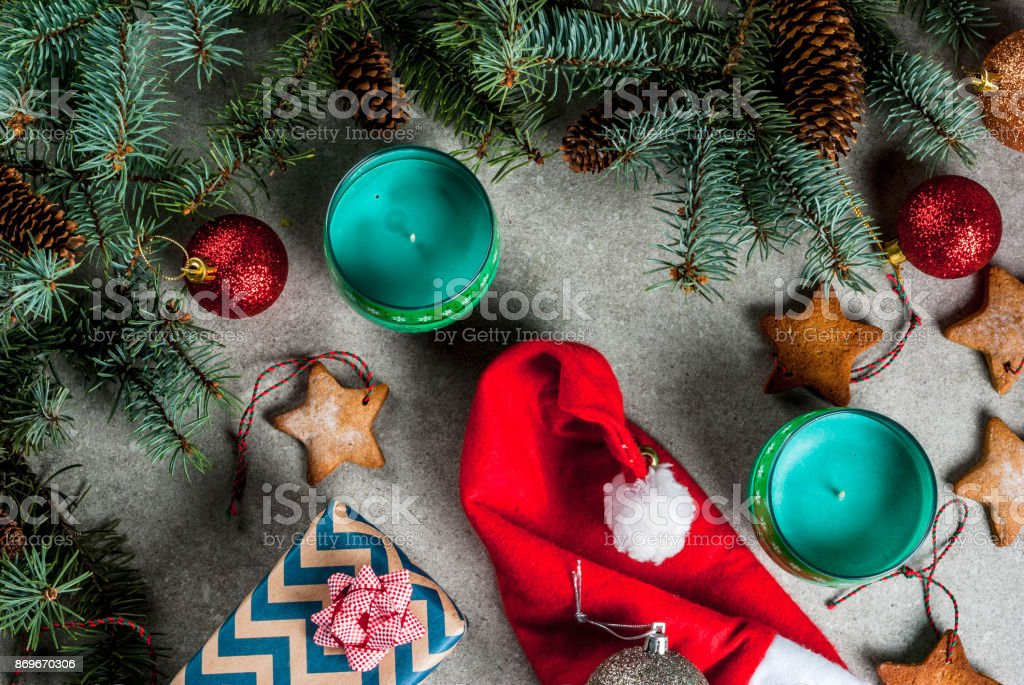 Christmas Festive Background Stock Photo More Pictures Of Above