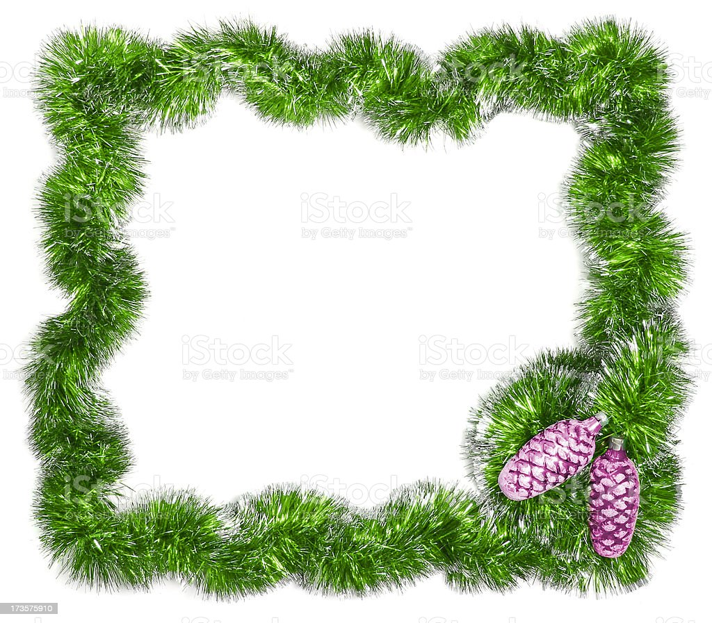 Christmas festive frame - Add Text stock photo