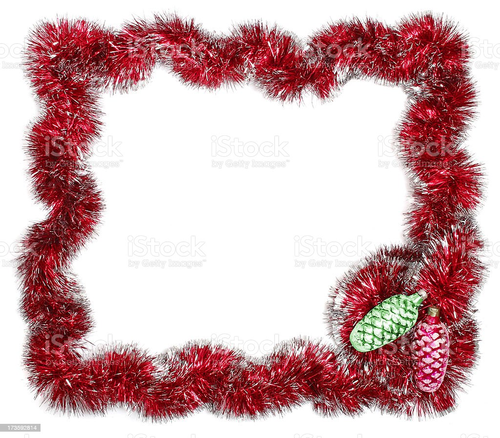 Christmas festive frame - Add Text royalty-free stock photo