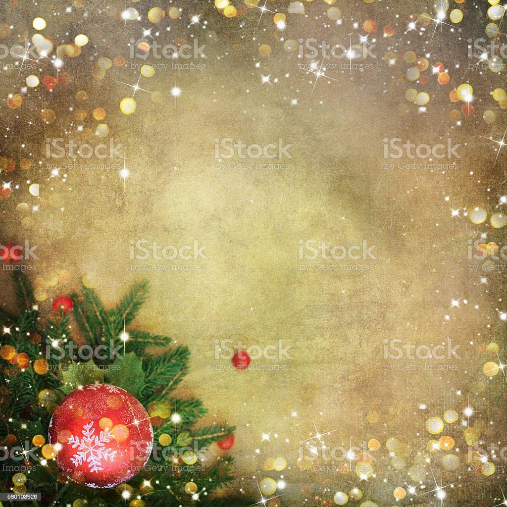 Tannenarten Weihnachtsbaum.Weihnachten Tannenarten Grenze über Vintagehintergrund Stockfoto Und
