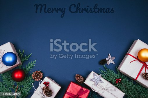 istock Christmas fir tree with decoration 1190704827