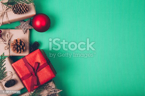 istock Christmas fir tree with decoration 1191270495