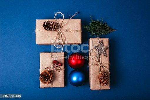 istock Christmas fir tree with decoration 1191270498