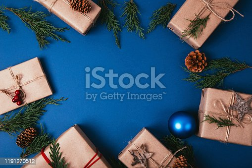 istock Christmas fir tree with decoration 1191270512