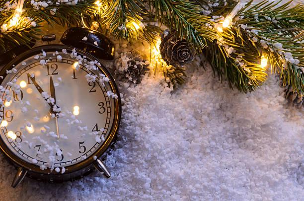 Christmas fir tree with lights – Foto