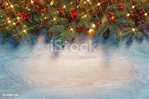 636659848 istock photo Christmas fir tree with lights 624985184