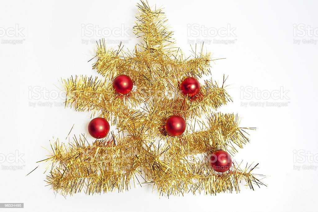 christmas fir with red balls royalty-free stock photo