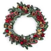 istock Christmas fir wreath isolated 1280136704