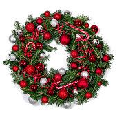 istock Christmas fir wreath isolated 1281027007