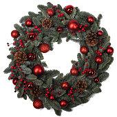 istock Christmas fir wreath isolated 1285747552