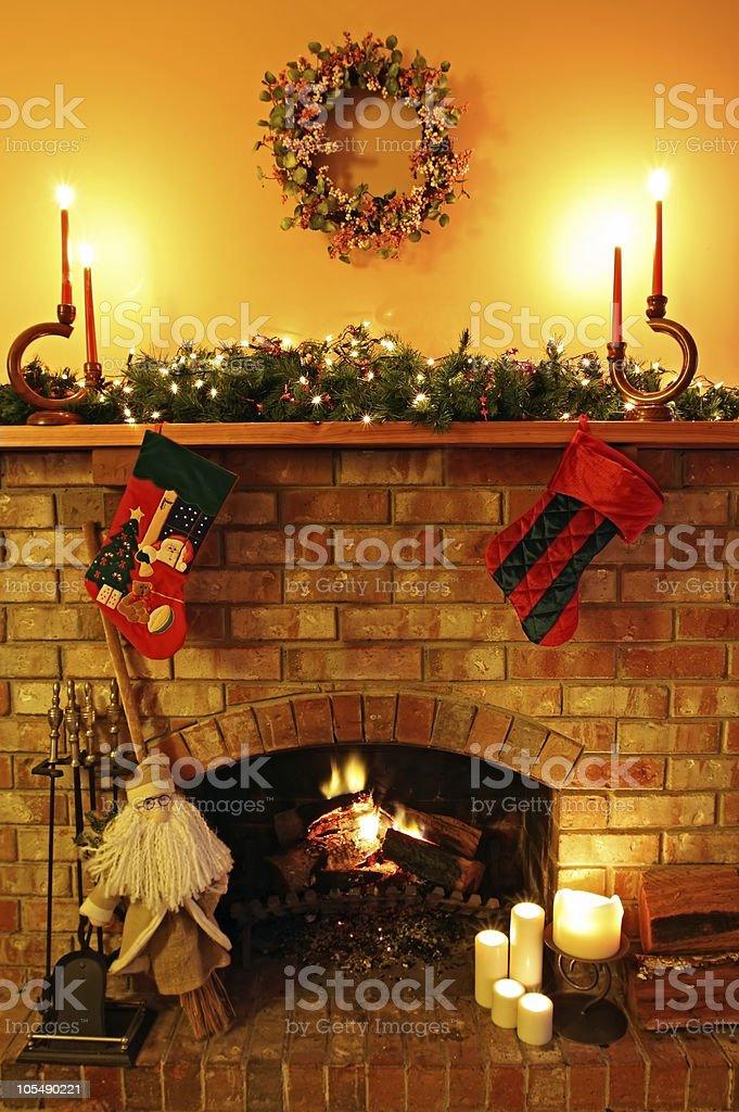 Christmas Fireside royalty-free stock photo