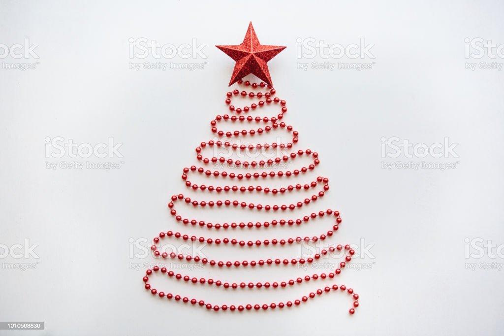 Spitze Für Tannenbaum.Weihnachten Tannenbaum Aus Perlen Und Ein Stern Auf Der Spitze
