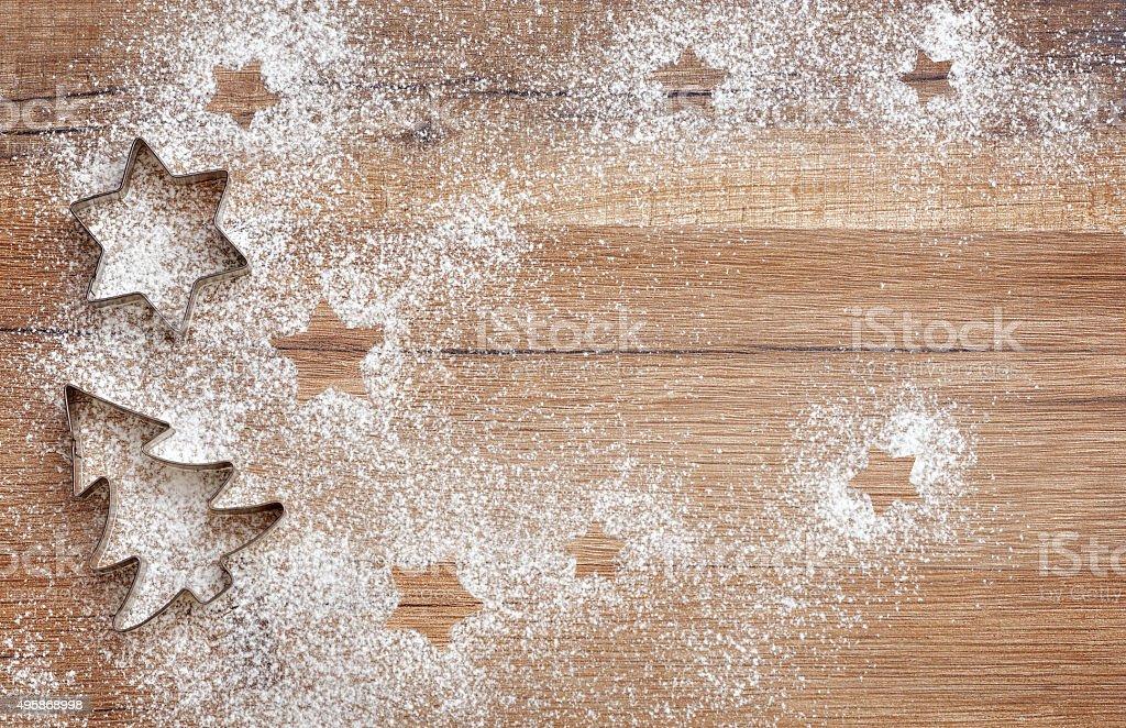 Christmas flat lay stock photo