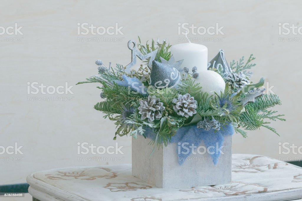 Bricolaje Arreglos Florales De Navidad En Envase De Madera