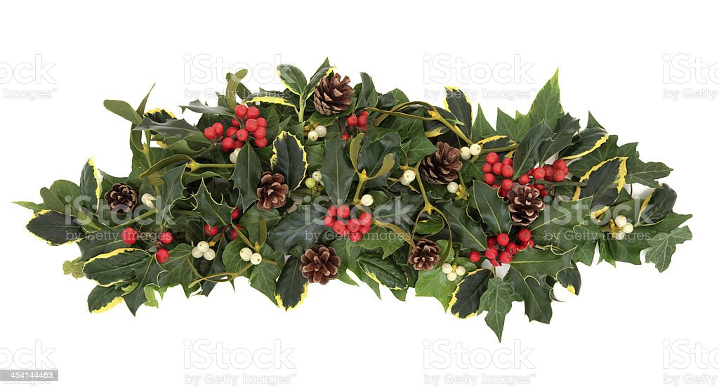 Christmas Floral Arrangement royalty-free stock photo