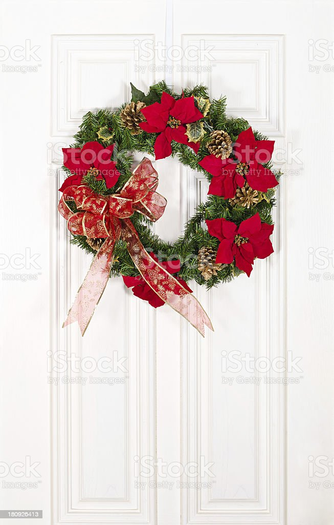 Christmas flower wreath royalty-free stock photo