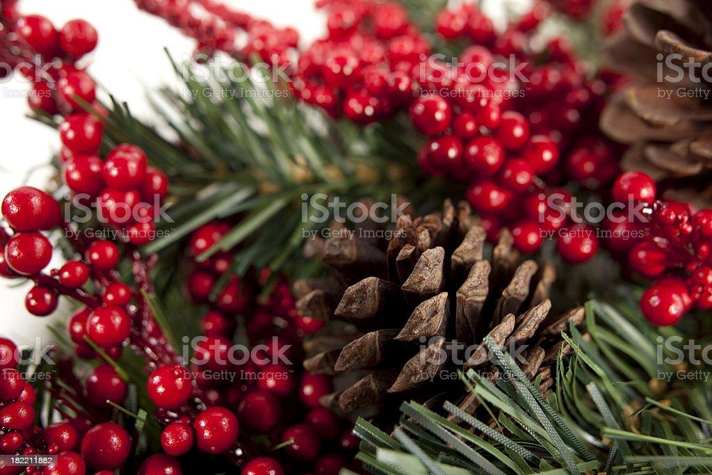 Christmas Foilage Background royalty-free stock photo