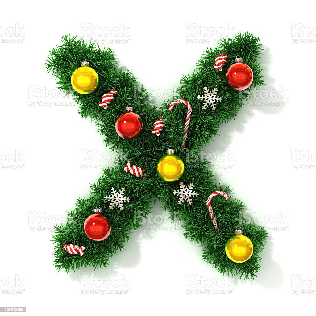 Christmas Letter I Alphabet Ornament (Round) | Christmas letters ...