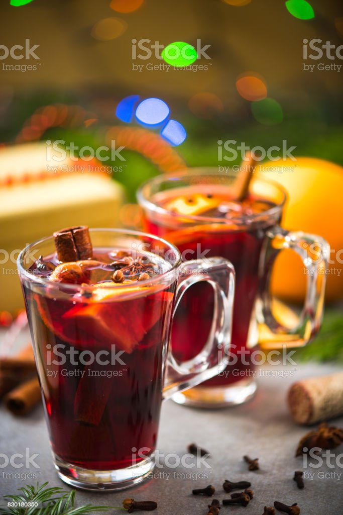 Christmas food and drink, mulled wine.