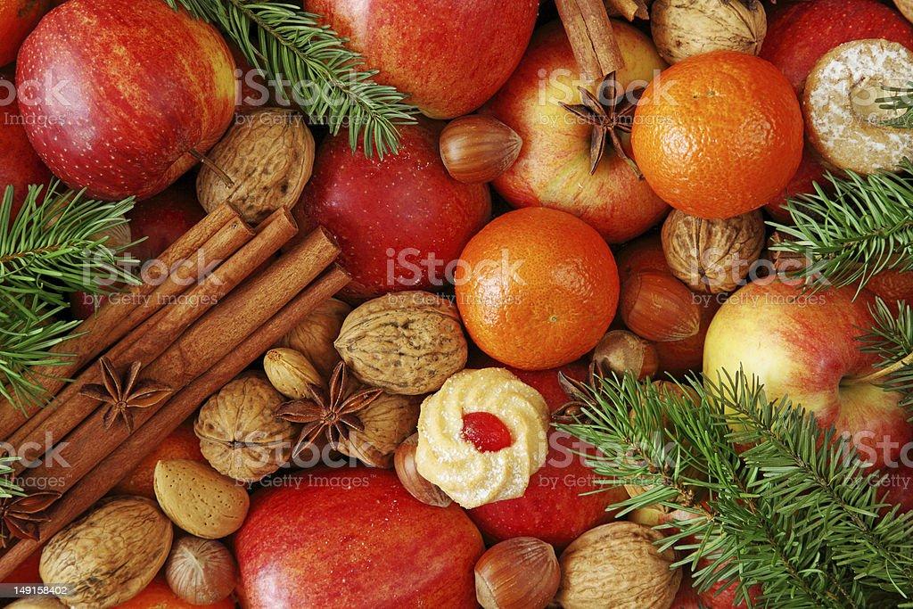 Christmas food background royalty-free stock photo