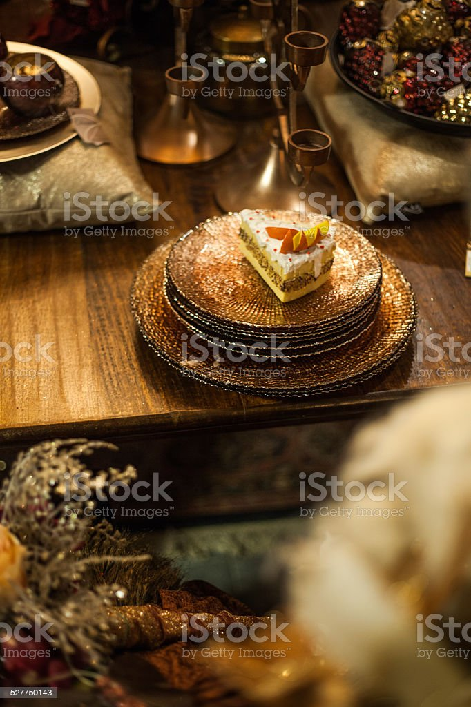 christmas food decoration stock photo