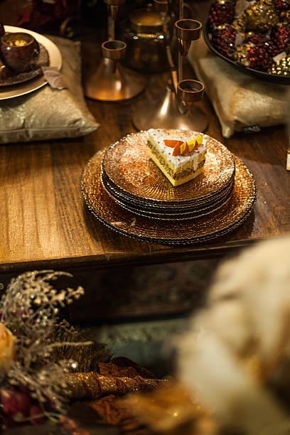 christmas food decoration stock photo